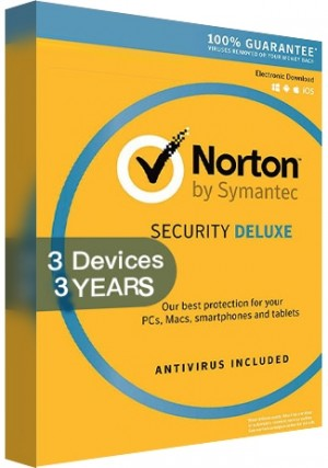 Norton Security Deluxe 3.0 - 3 Devices /3 Years