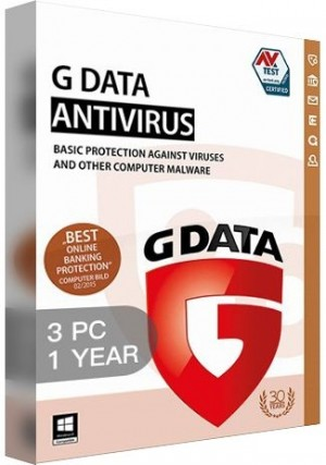 G Data Antiviru / 3 PCs (1 Year)