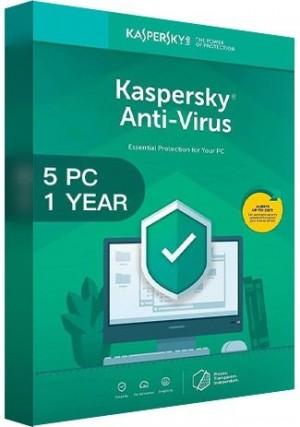 Kaspersky Antivirus 2020 / 5 PCs (1 Year)