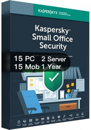 Kaspersky SMALL Office Security Version 7 / 15PCs + 15Mobs + 2Servers (1 Year)