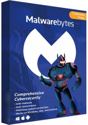 Malwarebytes Premium - 5 Devices/1 Year(EU)